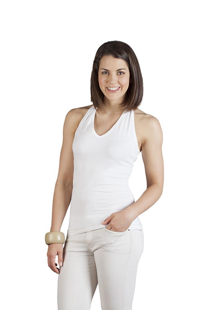 Neckholder Top Damen, XL, Weiß