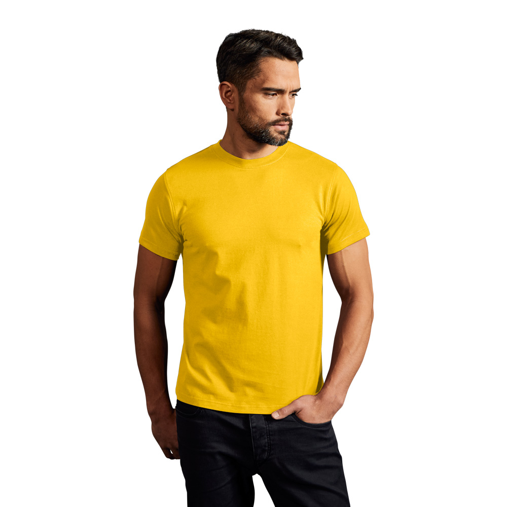Basic T-Shirt Herren, XXL, Gelb