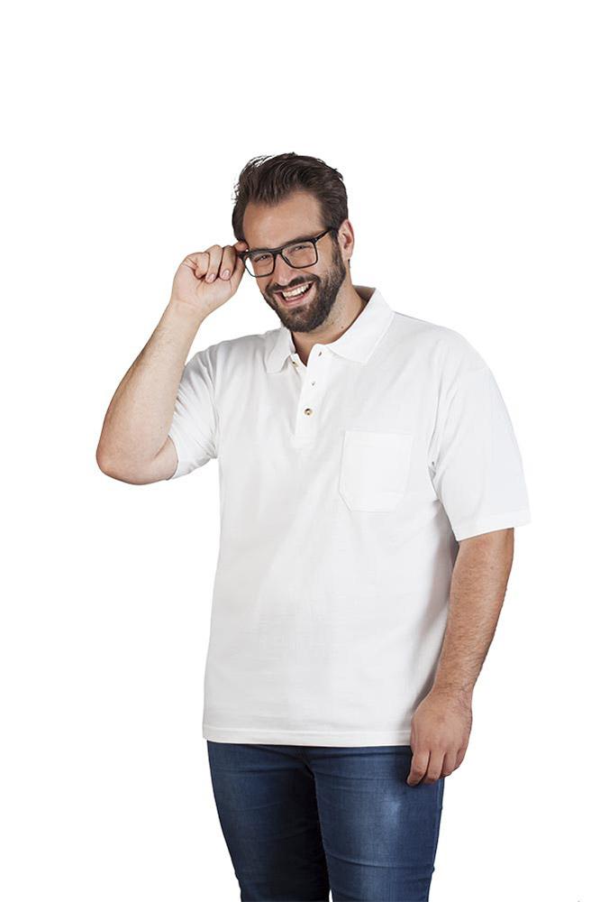 Polo fonctionnel grande taille Hommes, XXXL, noir / rouge