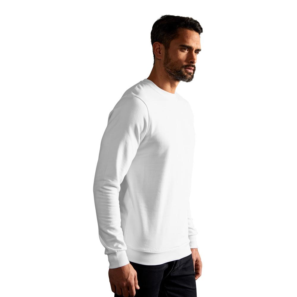 Premium Sweatshirt Herren, M, Weiß